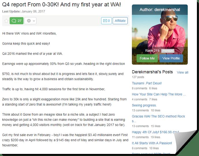 WA success story