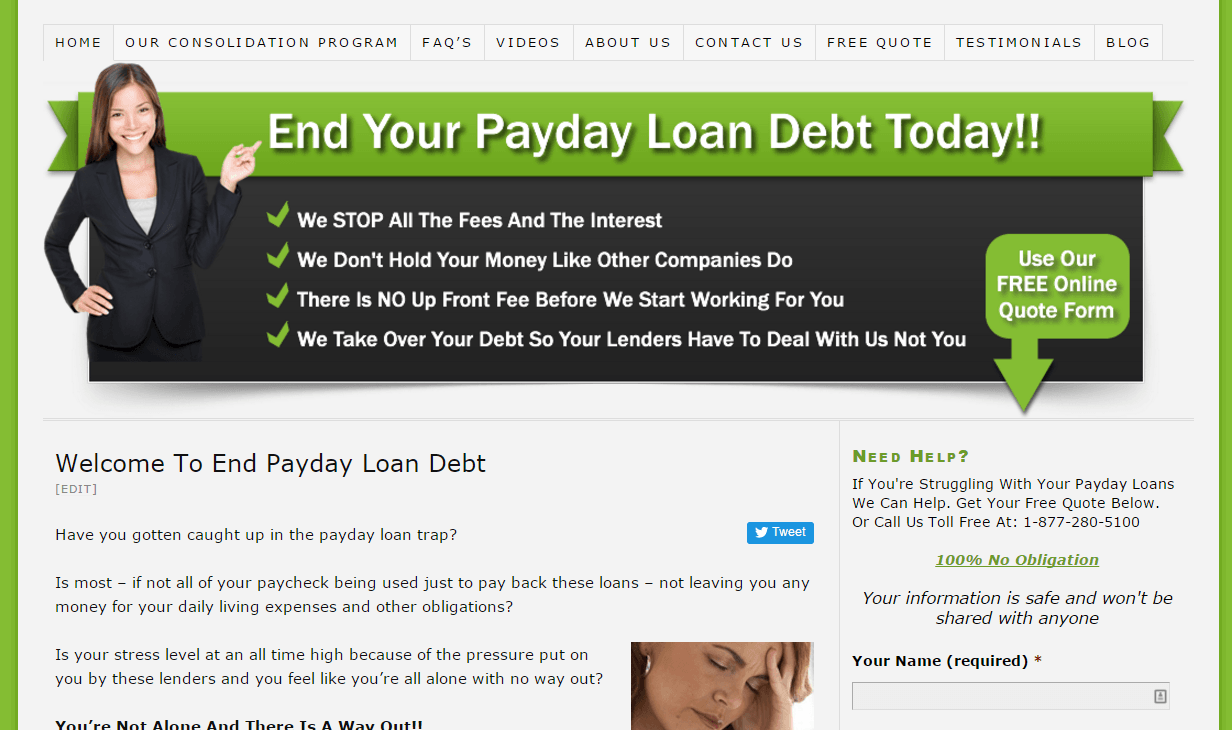 end payday loan debt