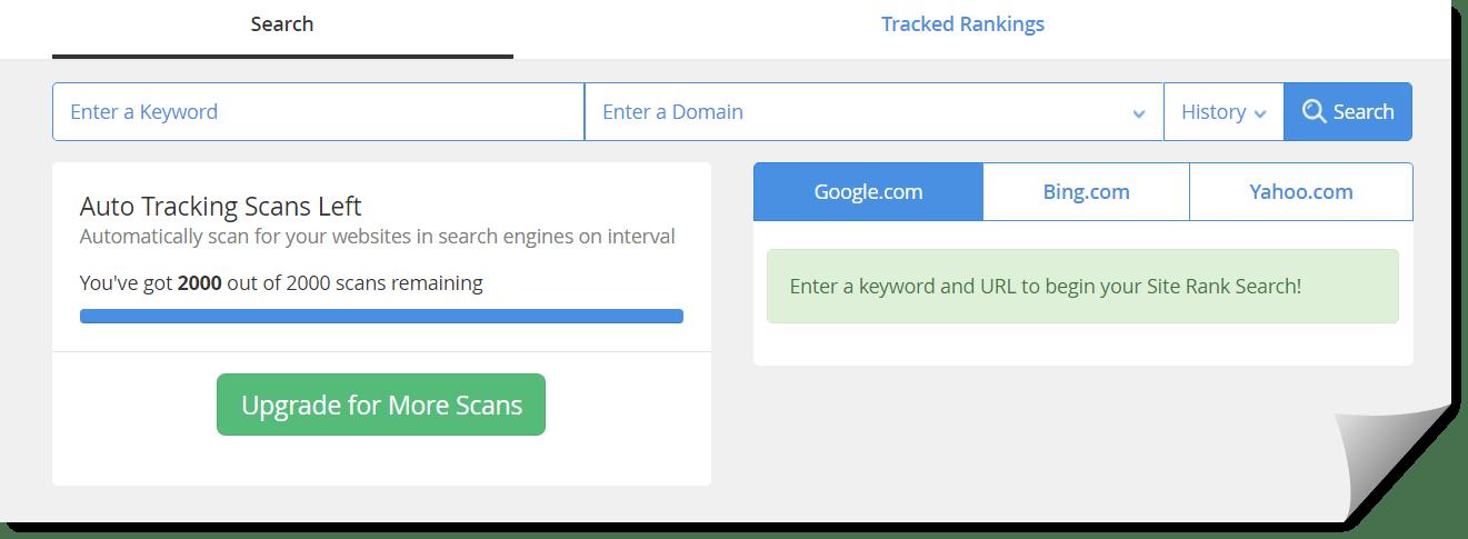 WA site rank